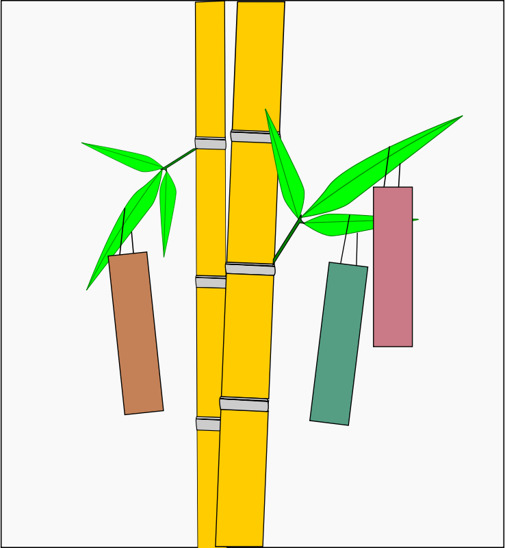Simple Tanabata Wishing Tree