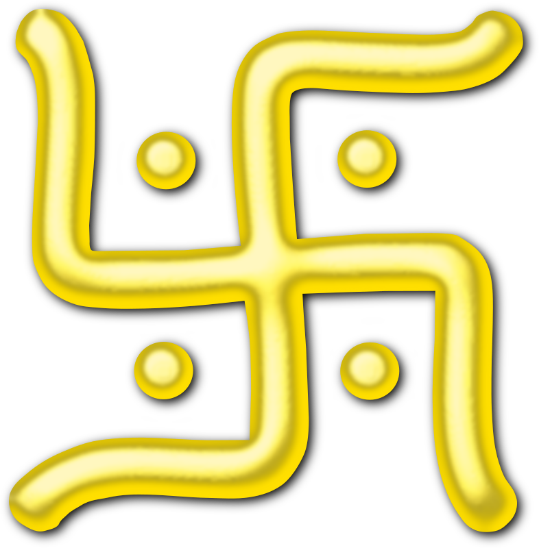 Golden swastika