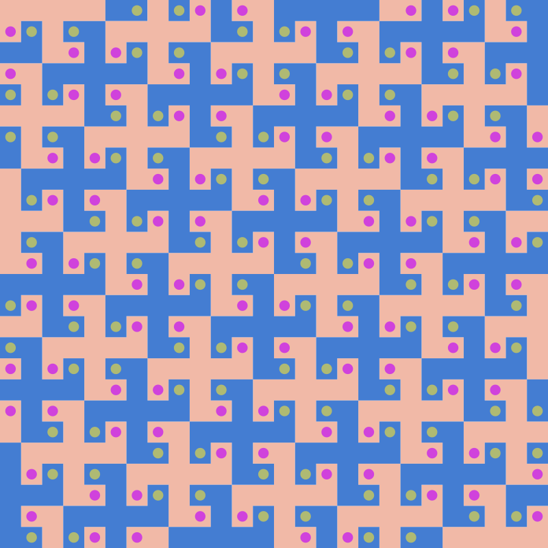 Swastika tessellation 2 (colour)