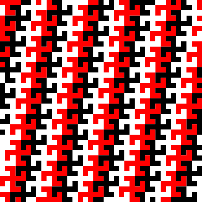 Swastika tessellation 1 (three-colour)