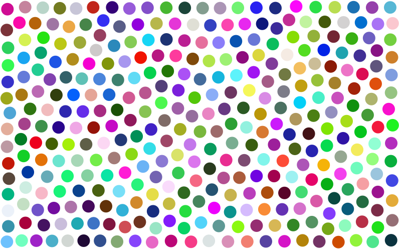 Prismatic Dots Background No Background