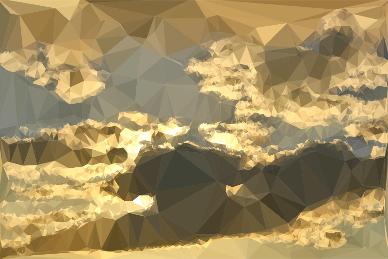 Low Poly Golden Clouds