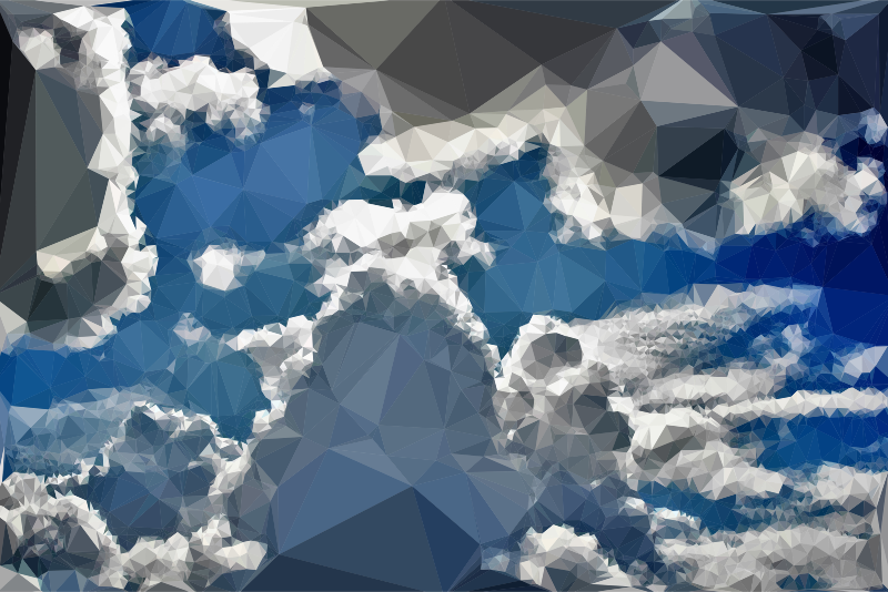 Low Poly Blue Sky 5