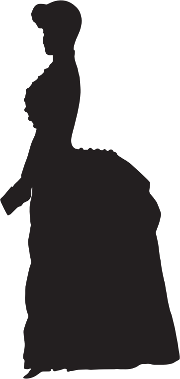Old Fashioned Victorian Woman Silhouette Variation 2
