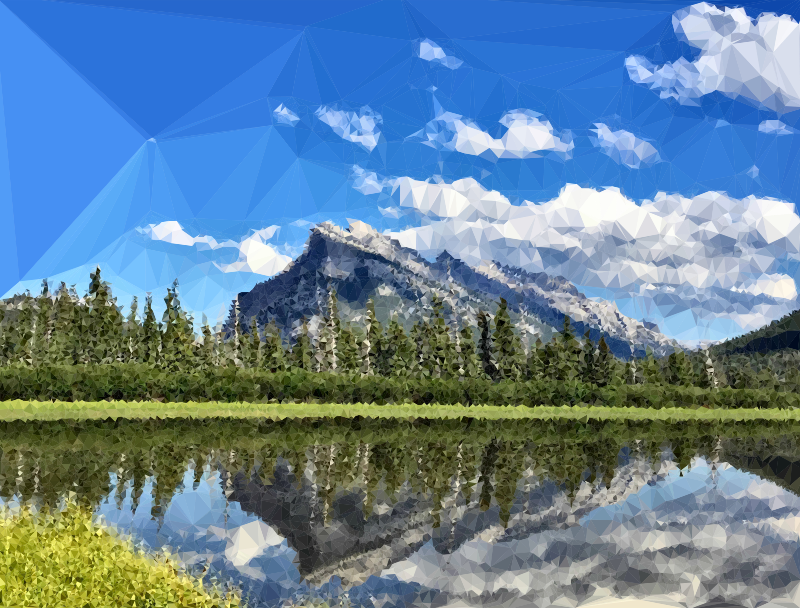 Low Poly Banff National Park Canada