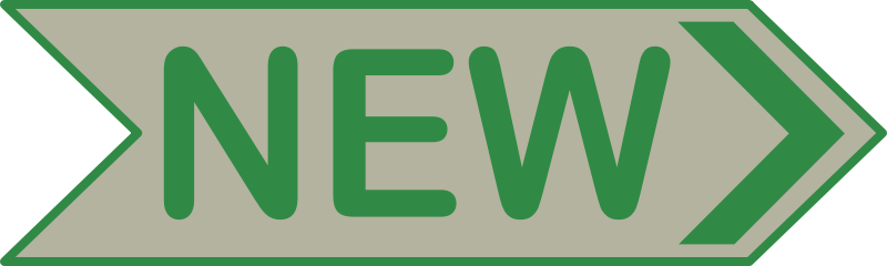 'NEW' Arrow Sign
