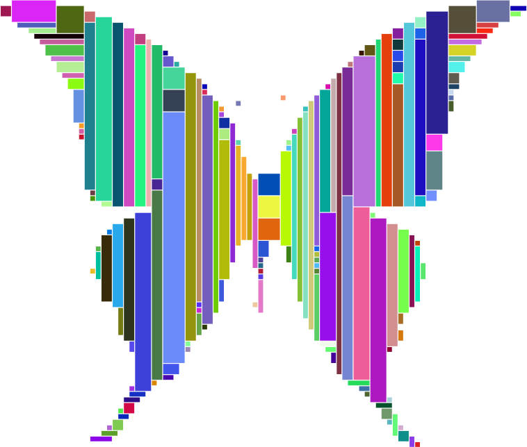 Prismatic Abstract Modern Art Butterfly