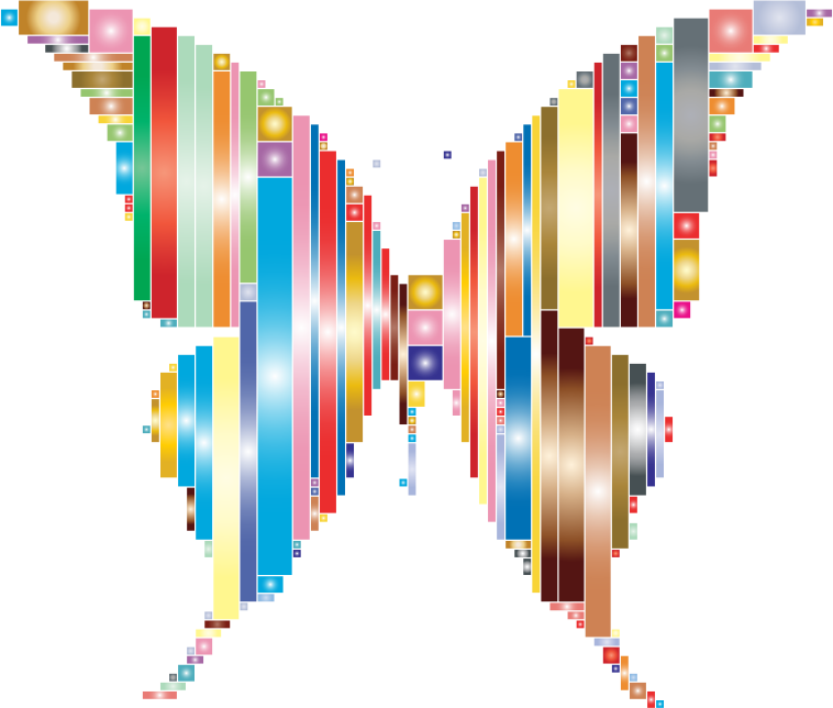 Prismatic Abstract Modern Art Butterfly 2