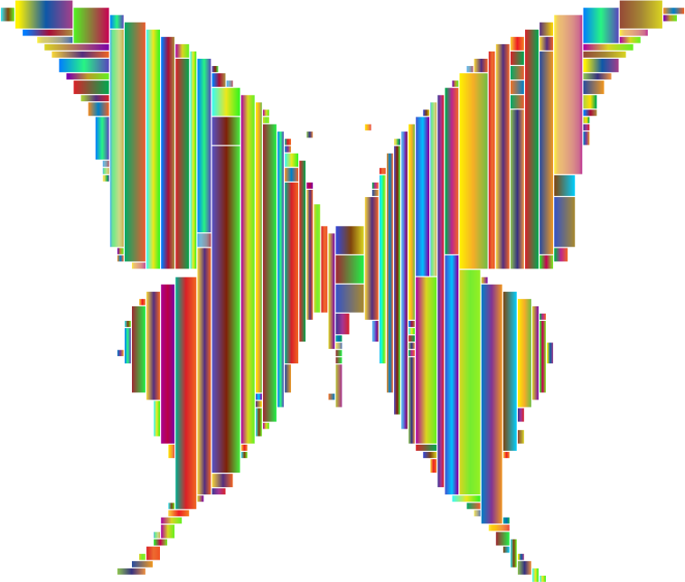 Prismatic Abstract Modern Art Butterfly 4