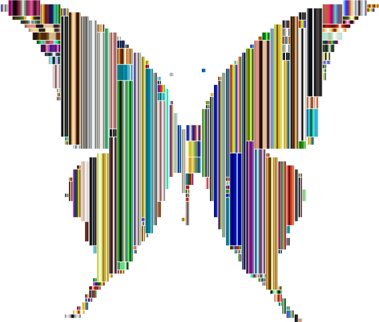 Prismatic Abstract Modern Art Butterfly 8