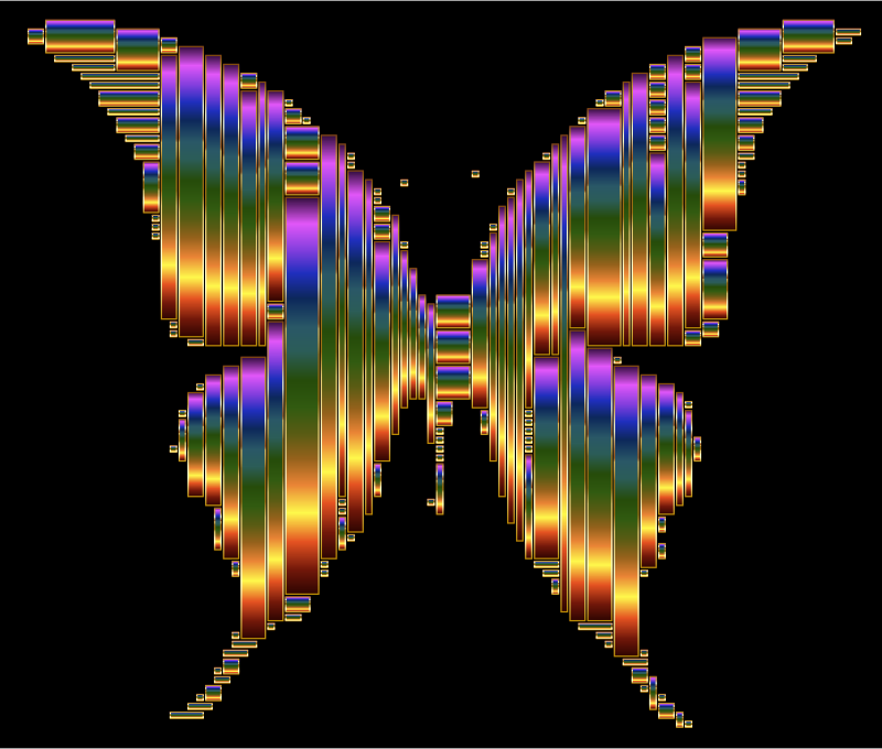 Prismatic Abstract Modern Art Butterfly 12