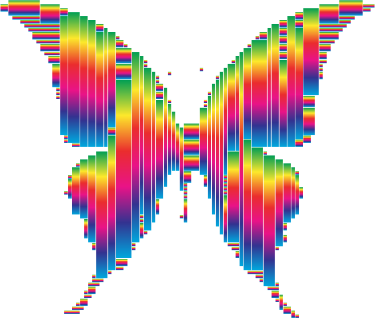 Prismatic Abstract Modern Art Butterfly 14