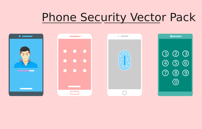 Phone Security Vector Pack