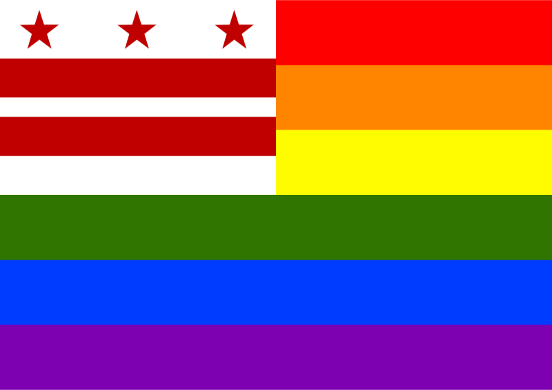 Rainbow Flag District Columbia