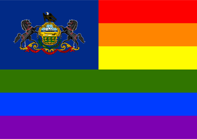 Rainbow Flag Pennsylvania