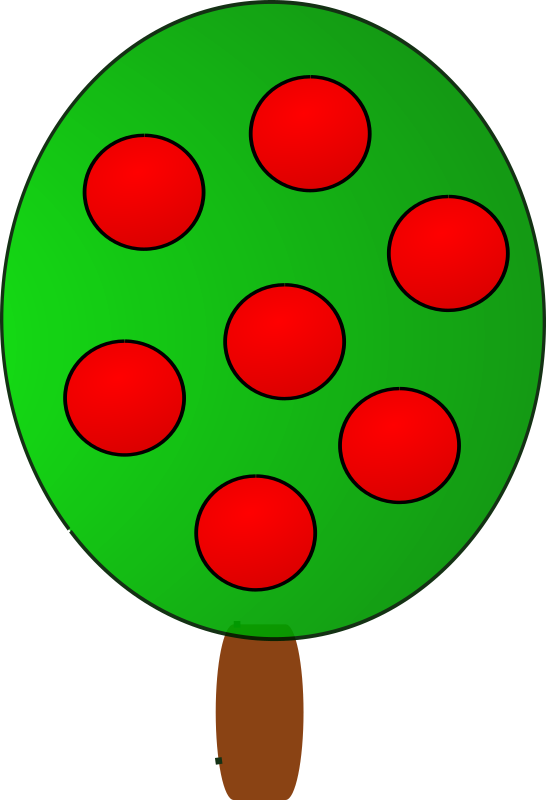 Fruit tree 2, red