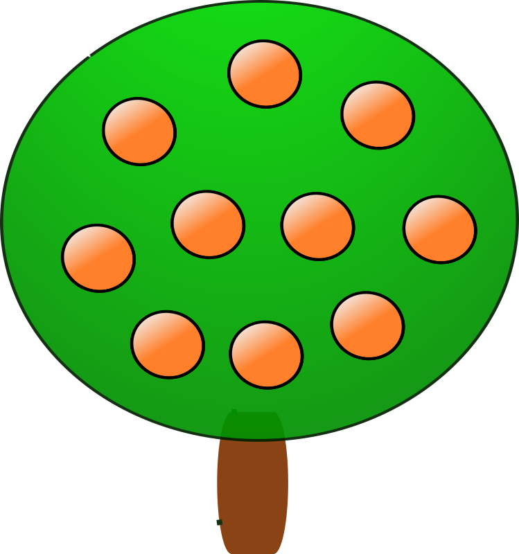 Fruit tree 3, orange