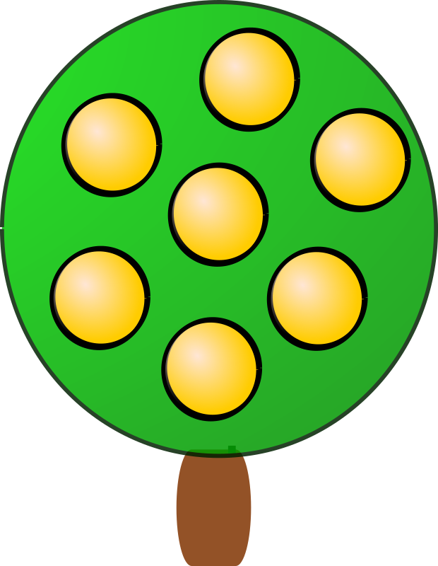 Fruit tree 4, yellow