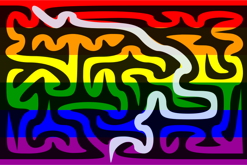 The Rainbow Flag Maze—Solution