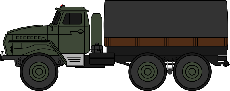 Ural-4320 military truck (coloured)