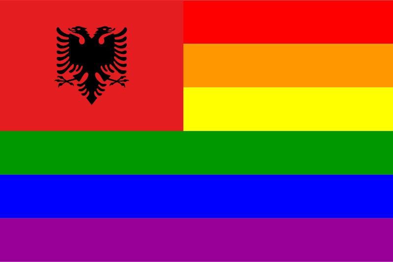 The Albania Rainbow Flag