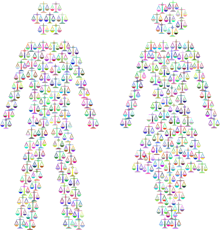 Prismatic Gender Equality Male And Female Figures 2 No Background