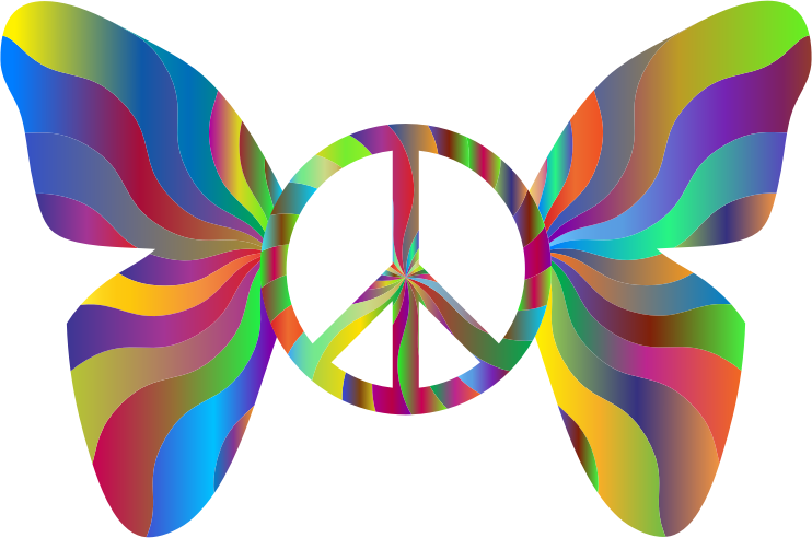 Groovy Peace Sign Butterfly 6