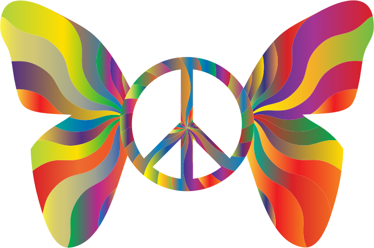 Groovy Peace Sign Butterfly 7