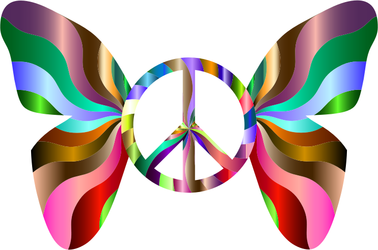 Groovy Peace Sign Butterfly 8