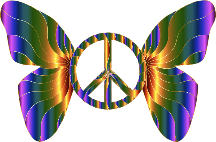 Groovy Peace Sign Butterfly 11