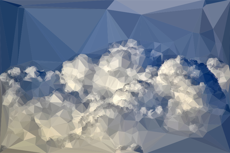 Low Poly Blue Sky 6
