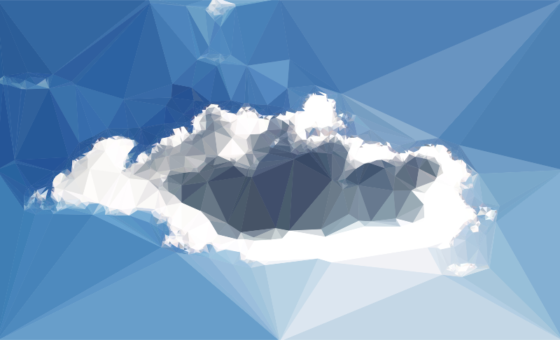Low Poly Blue Sky 7