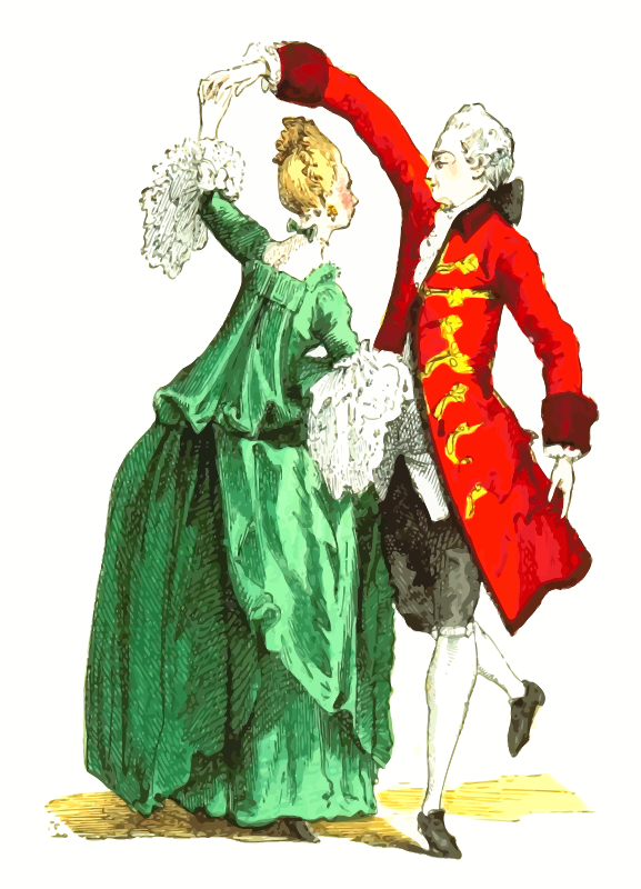 18th century French ballroom costumes