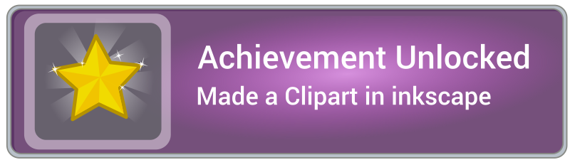 Achievement unlocked icon game with frame