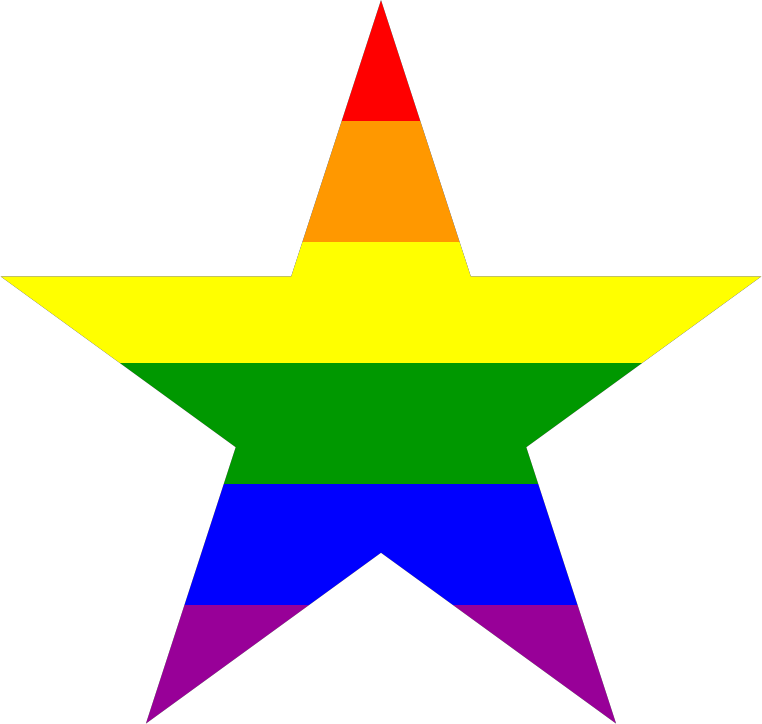 Classical Rainbow Five-Point Star