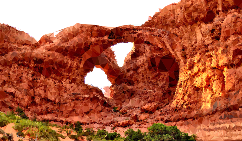 Low Poly Arches National Park