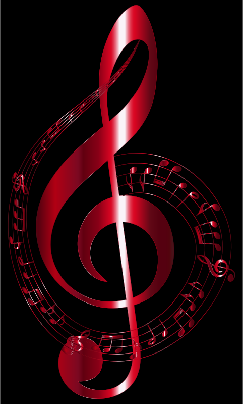 Vermilion Musical Notes Typography