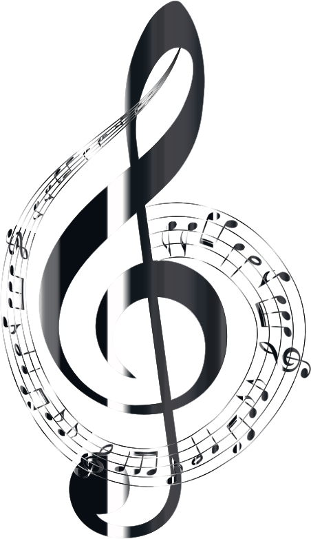 Polished Onyx Musical Notes Typography No Background
