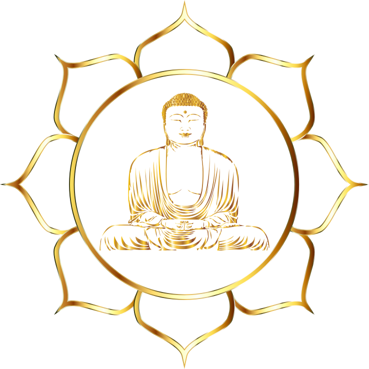 Gold Buddha Lotus No Background