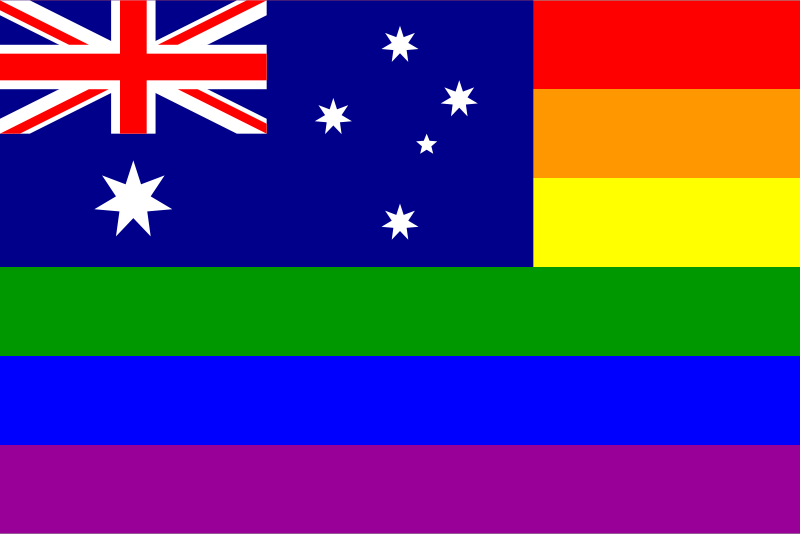 The Australia Rainbow Flag