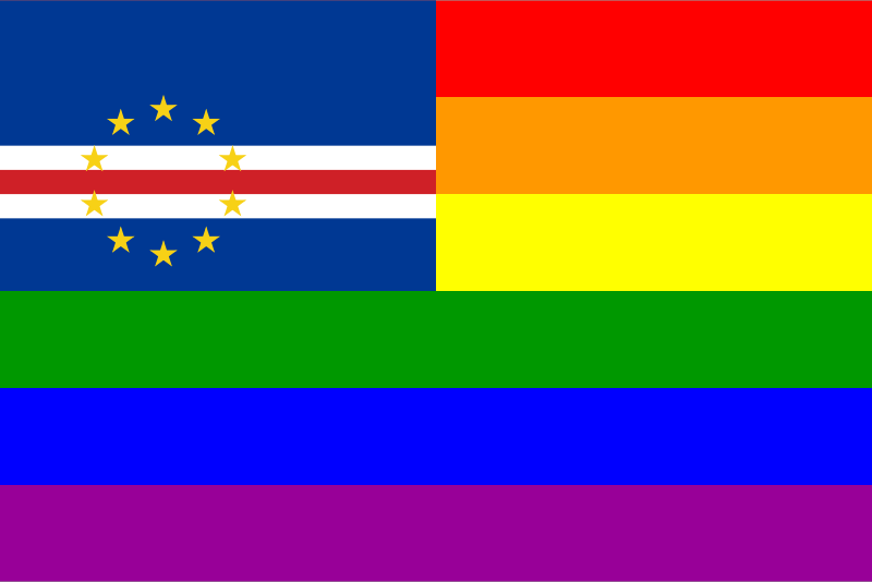 The Cape Verde Rainbow Flag