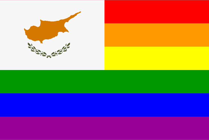 The Cyprus Rainbow Flag