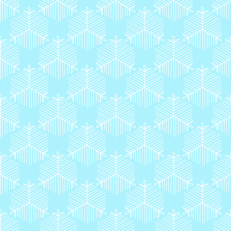 snow crystal seamless pattern