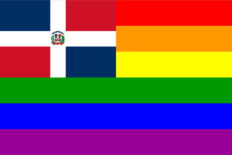 The Dominican Republic Rainbow Flag