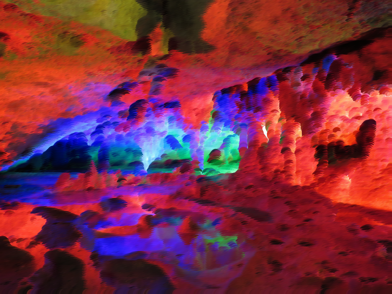 Surreal Prismatic Cavern