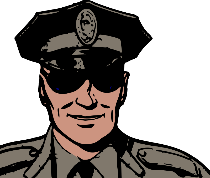 Police in sunglasses