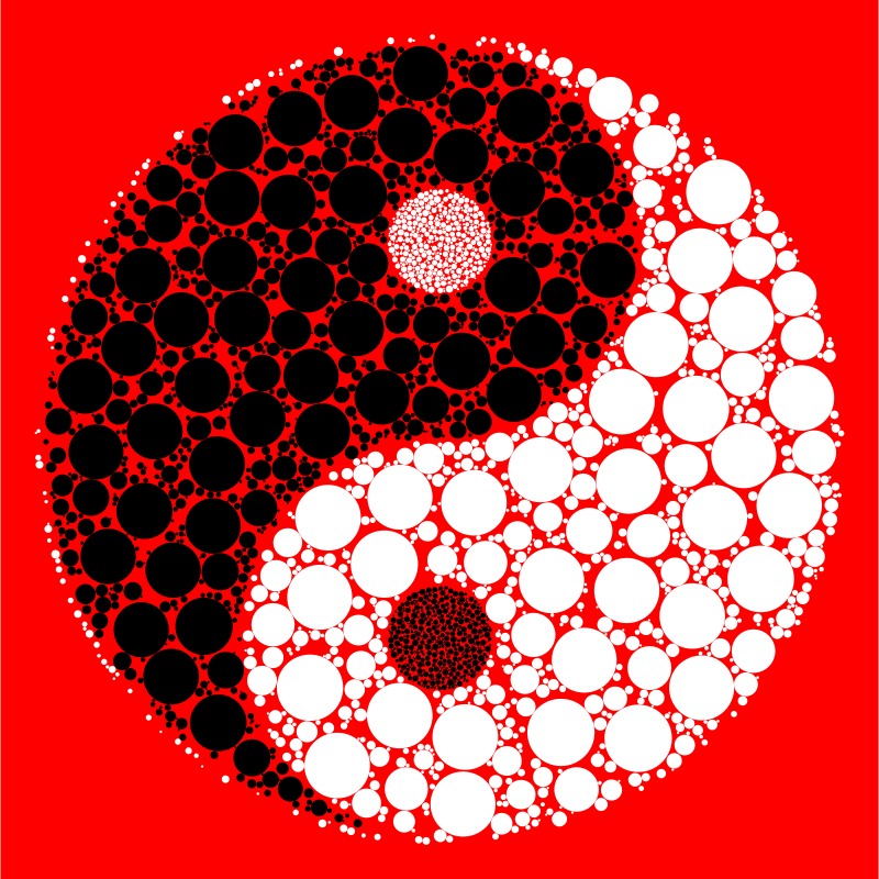Circles Yin Yang With Background