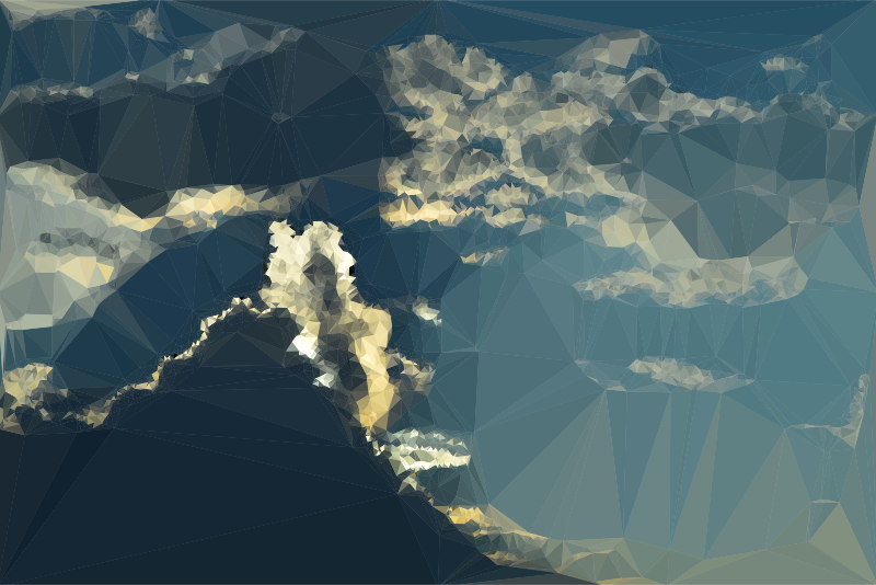 Low Poly Tumultuous Sky