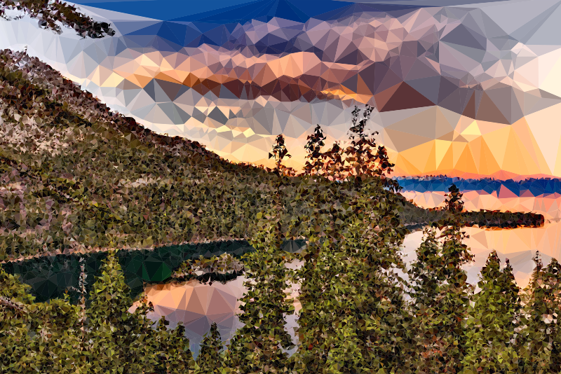 Low Poly Lake Tahoe