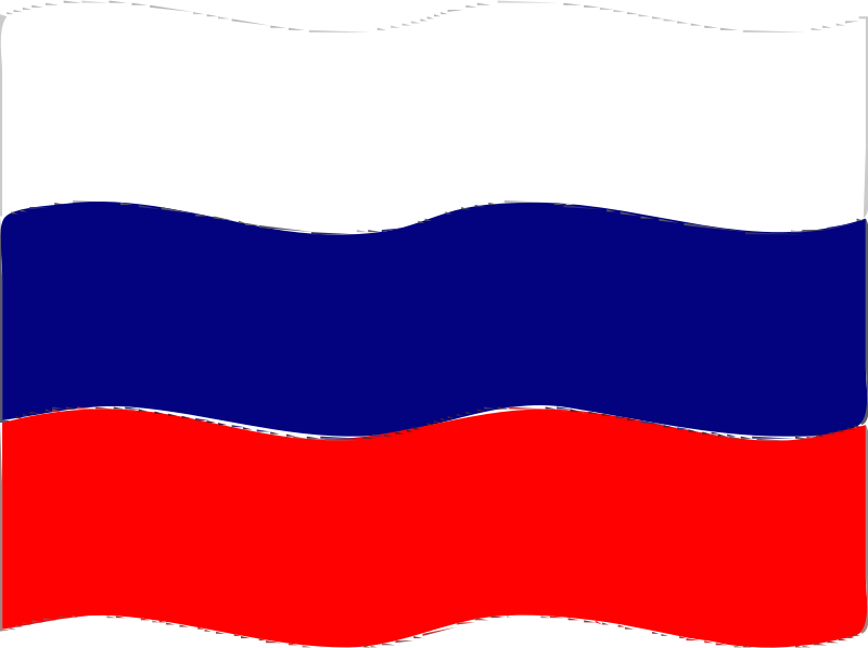 Flag of Russia wave